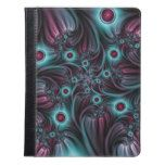 Into the Depth Blue Pink Abstract Fractal Art iPad Case