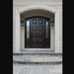 Side Light Entry Doors | Amberwood Doors Inc. Modern Wooden Doors, Wooden Main Door Design, Wood Doors, Back Doors, Entry Doors, Double Doors Exterior, House Front Door, Outdoor Living, New Homes