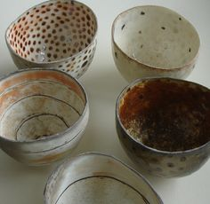 "These bowls have been sent to London to the exhibition ""20 Years 20 Pots"" opening 9th September in Galerie Besson."