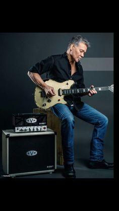 Eddie Van Halen. Good photo of one my top 10 guitarist.  Legendary.