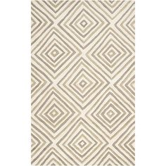 Hand-tufted-Dixon-Geometric-Diamond-Wool-Rug - 5'x8' is $365 on Overstock.com.  Other colors available.