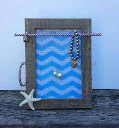Jewellery organiser frame nautical jewelry stand by PicToFrame