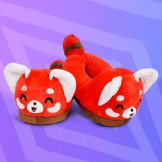 Red Panda Slippers TeeTurtle Minis