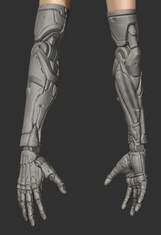 Cyberpunk Aesthetic, Arte Cyberpunk, Mechanical Arm, Mechanical Design, Robot Concept Art, Armor Concept, Zbrush, Art Reference Poses, Design Reference