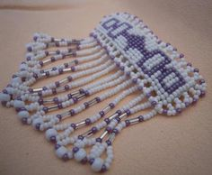 Oneida Pride Seed Bead Fringe Barrette by MDHcrafts on Etsy, $25.00