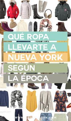 Qué tiempo hace en Nueva York,y  qué ropa llevarte según la estación en la que viajes. Con ejemplos para cada época. #NuevaYork