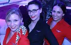 February is Heart Health Month. Our in-flight team is sporting Red Dresses to support the American Heart Association. Learn more here: http://www.virginamerica.com/blog/keeping-heart-healthy/