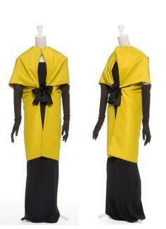 1965 Cristobal Balenciaga designer. Evening wrap