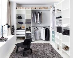 Walk in wardrobe - so lavish! So unrealistic.