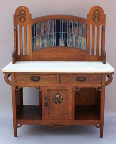Crafts Wash Stand, Miscellaneous, Antique Arts and Crafts/Furniture . Antique Furniture For Sale, Luxury Furniture, Home Furniture, Walnut Furniture, Rustic Furniture, Craftsman Furniture, Victorian Furniture, Furniture Dolly, Victorian Art
