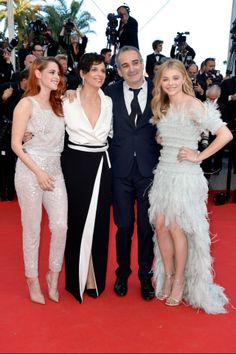 """Guests at the premiere of """"Sils Maria"""" As part of the 67th Cannes Film Festival"""