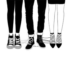 love triangle by henn kim go get art print - Coloration Et Henn