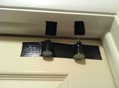 Home Security System...attach duct tape poppers to the top of your door, thieves won't be able to see/hear it coming....