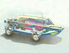 Wooden Boat Plans, Wooden Boats, Amphibious Vehicle, 4x4 Van, V Max, Diy Tank, Joy Ride, Boat Design, Animal Sketches