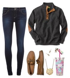 """study-day monday"" by girl-gone-preppy ❤ liked on Polyvore featuring BaubleBar, Dorothy Perkins, Sperry Top-Sider, J.Crew and Lilly Pulitzer"