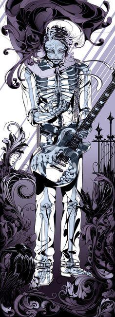 'Skeleton Guitarist' by Man-Tsun - Illustration from Hong Kong SAR