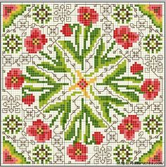 .ь21 (462x466, 293Kb) Biscornu Cross Stitch, Cross Stitch Pillow, Cross Stitch Love, Cross Stitch Borders, Cross Stitch Flowers, Cross Stitch Charts, Cross Stitch Designs, Cross Stitching, Cross Stitch Embroidery