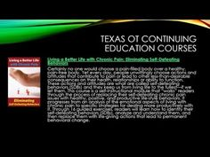 Texas Occupational Therapists Continuing Education and Licensing - YouTube