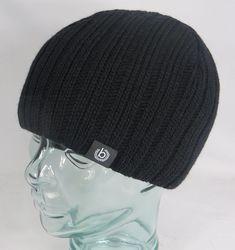 Bugatti Knitted Cap Cap Woolen Hat Ski Cap Beanie Black Pull on New   fashion   af90e882e0b2