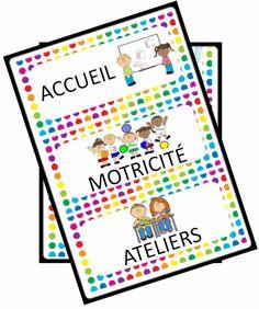 Affiches illustrées du déroulement de la journée - Gijou à la maternelle