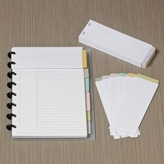 Circa smartPlanner Annotation Tabs easy DIY for ANY planner using the envelope board punch