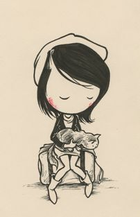 Image discovered by vee. Find images and videos about girl, cat and drawing on We Heart It - the app to get lost in what you love. Cute Illustration, Graphic Design Illustration, Heartbroken Drawings, Kurt Halsey, Illustrations, Crazy Cats, Cat Art, Painting Inspiration, Vector Art