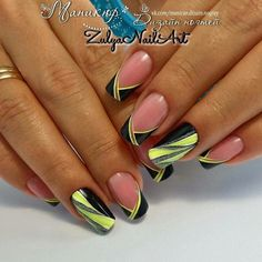 580 Likes, 1 Comments - ИДЕИ МАНИКЮРА Реклама ( - Nail Trends Nail Tip Designs, Best Nail Art Designs, Beautiful Nail Designs, Beautiful Nail Art, Yellow Nail Art, Dot Nail Art, Geometric Nail, Girls Nails, Sparkle Nails