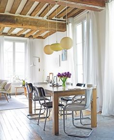 So much light in this amazing French apartment.