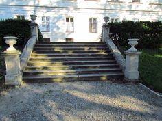 File:Garden stairs of Chateau in Tavíkovice, Znojmo District. Garden Stairs, Sidewalk, Garden Ideas, Decor, Decoration, Side Walkway, Garden Steps, Walkway, Landscaping Ideas