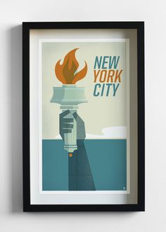 New York Travel Print by The Heads of State