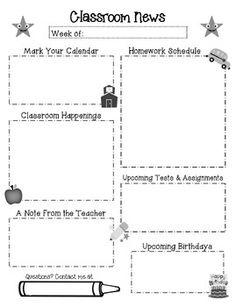Download Newsletter Templates For Teachers | ... templates for our ...