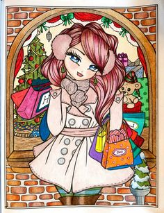 """Holiday Shopping"" - A Whimsy Girls Christmas by Hannah Lynn"