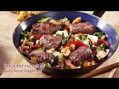 Keurslager recept - Paksoi met pinda's en biefstukpuntjes