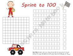 FREE Sprint to 100 Place Value Game