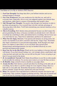 10 rules to live by, for infjs
