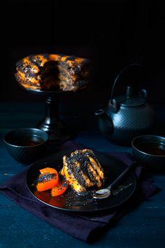 Halloween Cake au Sésame Noir - 100 % Végétal {waouh ! j'suis sur le cul, il est fantastique ce gâteau - à faire au prochain Halloween  =}