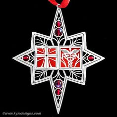 Christian Nurse Ornament with metal cross & RN emblem. Cute Christmas gift idea for nurses!