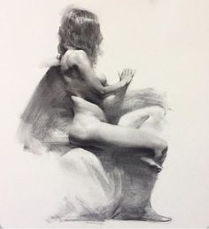 """Fine art charcoal drawings by Jacob Hankinson ( """"Trinity"""", about 3 hours from life. Vine/charcoal pencil on Strathmore drawing paper, x - Sold. Male Figure Drawing, Female Drawing, Fine Art Drawing, Life Drawing, Painting & Drawing, Chef D Oeuvre, Oeuvre D'art, Realistic Drawings, Art Drawings"""