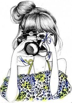 Illustration - illustration - www. illustration : – Picture : – Description www.creativeboysc… -Read More – Amazing Drawings, Cool Drawings, Girly Drawings, Camera Drawing, Boy Drawing, Drawing Hair, Drawing Ideas, Illustration Blume, Tumblr Drawings