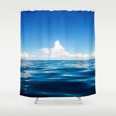 Deep Blue Shower Curtains #ocean #sea #water #waterphotography #travel #adventure #serenity #clouds #waterscape #showercurtains