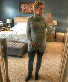 Yup, she's still in there! 37 weeks and counting! Fluffy Sweater, Wardrobes, Crossdressers, Warm And Cozy, Dress Up, Turtle Neck, Pullover, Clothes For Women, Female