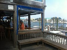Like the bar wrapped around outside for upstairs. Makes for lots of seating. Boat Shed, Bar, Outdoor Decor, Home Decor, Decoration Home, Room Decor, Home Interior Design, Home Decoration, Interior Design
