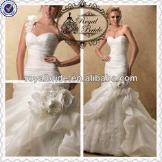 Alibaba Wedding Dress   1.Made by Satin and Organza  2.Ruffles and Appliques  3.Straples