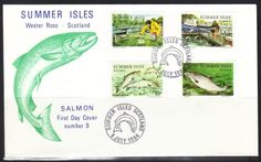 SALMON FIRST DAY COVER, 5 July 1984