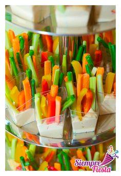 Ideas de snacks-bocadillos nutritivos para tu fiesta infantil.