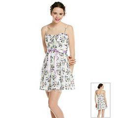 Product: Emerald Sundae® Juniors' Lilac Floral Print Sundress