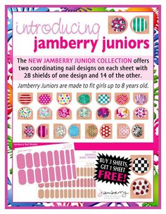 jamberry buy 3 get 1 free | There are even smaller sized Jamberry Juniors for girls up to 8 years ...