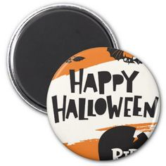 #Halloween Party Print - Bats and Cemetery RIP Magnet - #Halloween #happyhalloween #festival #party #holiday