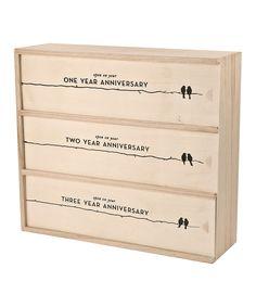 Newlywed Anniversary Wine Box