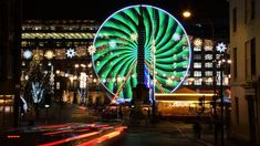 Harshad Joshi has managed to turn Glasgow's big wheel in George Square into something other-worldly with his long-exposure shot. Glasgow, Cool Places To Visit, The Good Place, Scotland, December, Fair Grounds, Building, Big Wheel, Long Exposure